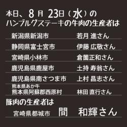 本日の生産者8.23